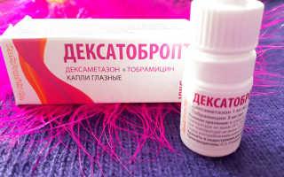 Инструкция по применению глазных капель Дексатобропт