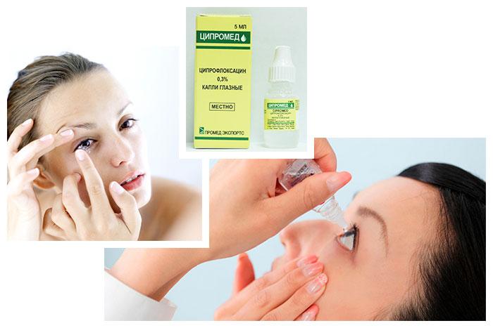 Глазные и ушные капли Ципромед: инструкция по применению