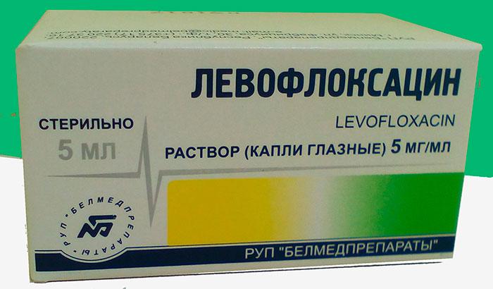 упаковка капель левофлоксацин