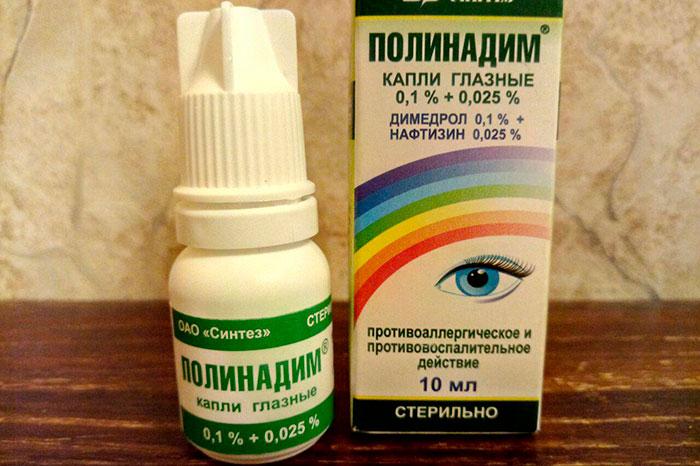 упаковка и флакон капель полинадим
