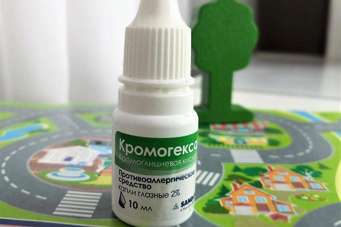 флакон капель кромогексал