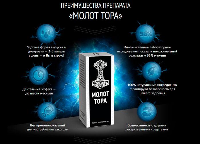 Капли для потенции Молот Тора: инструкция и отзывы