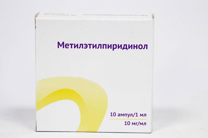 упаковка капель Метилэтилпиридинол