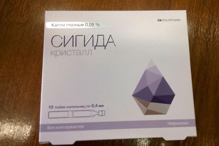 упаковка капель сигда кристал