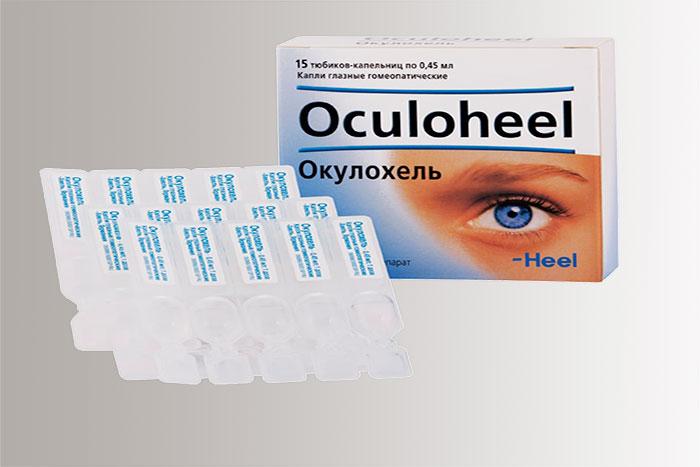 Упаковка и мини флаконы капель Окулохель