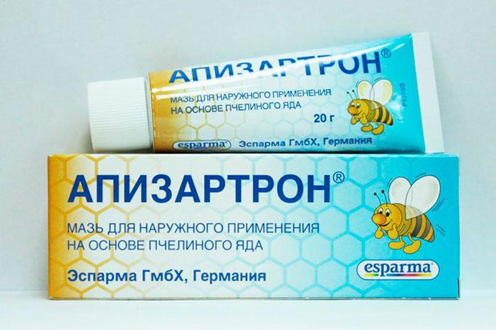 Упаковка и тюбик мази Апизатрон
