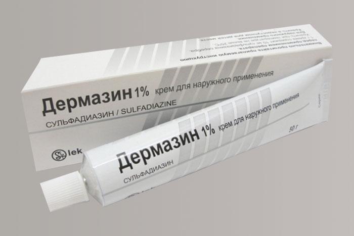 упаковка и тюбик крема Дермазин