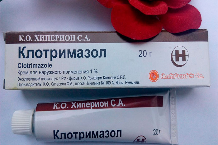Упаковка и тюбик крема Клотримазол