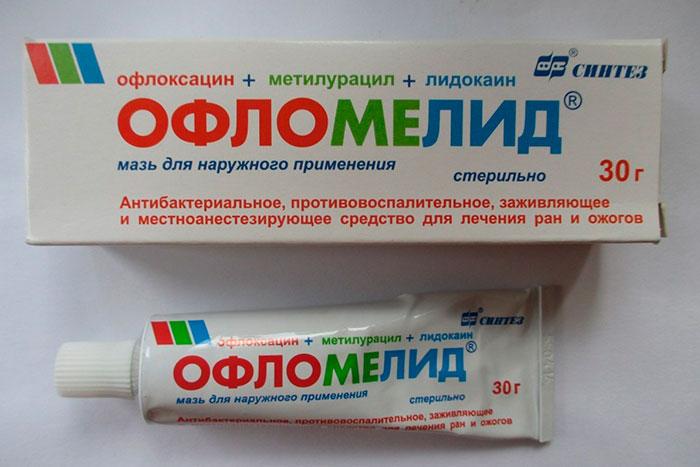 упаковка и тюбик мази Офломелид
