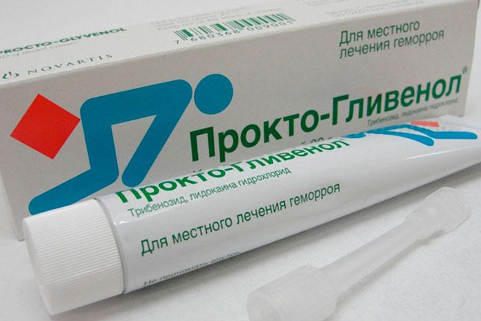 упаковка и тюбик геля Прокто-Гливенол