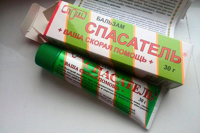 упаковка и тюбик мази Спасатель