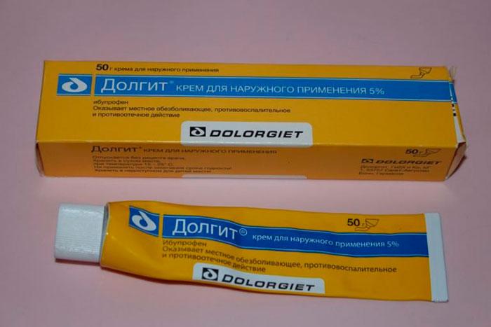 упаковка и тюбик крема Долгит