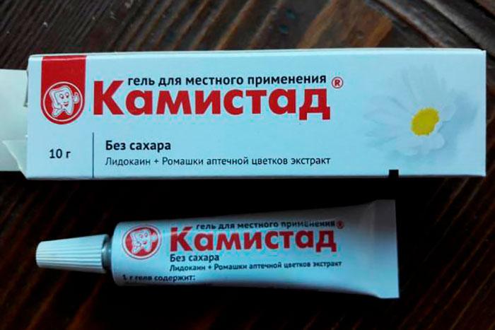 Упаковка и тюбик геля Камистад