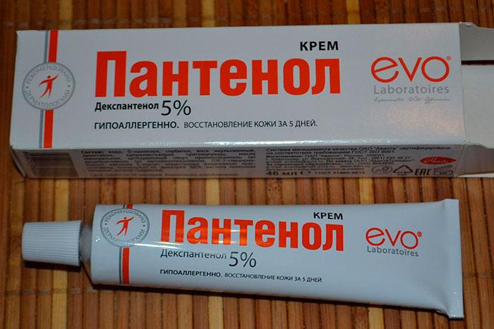 Упаковка и тюбик крема Пантенол