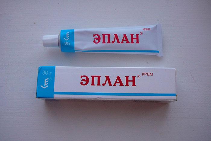Упаковка и тюбик крема Эплан